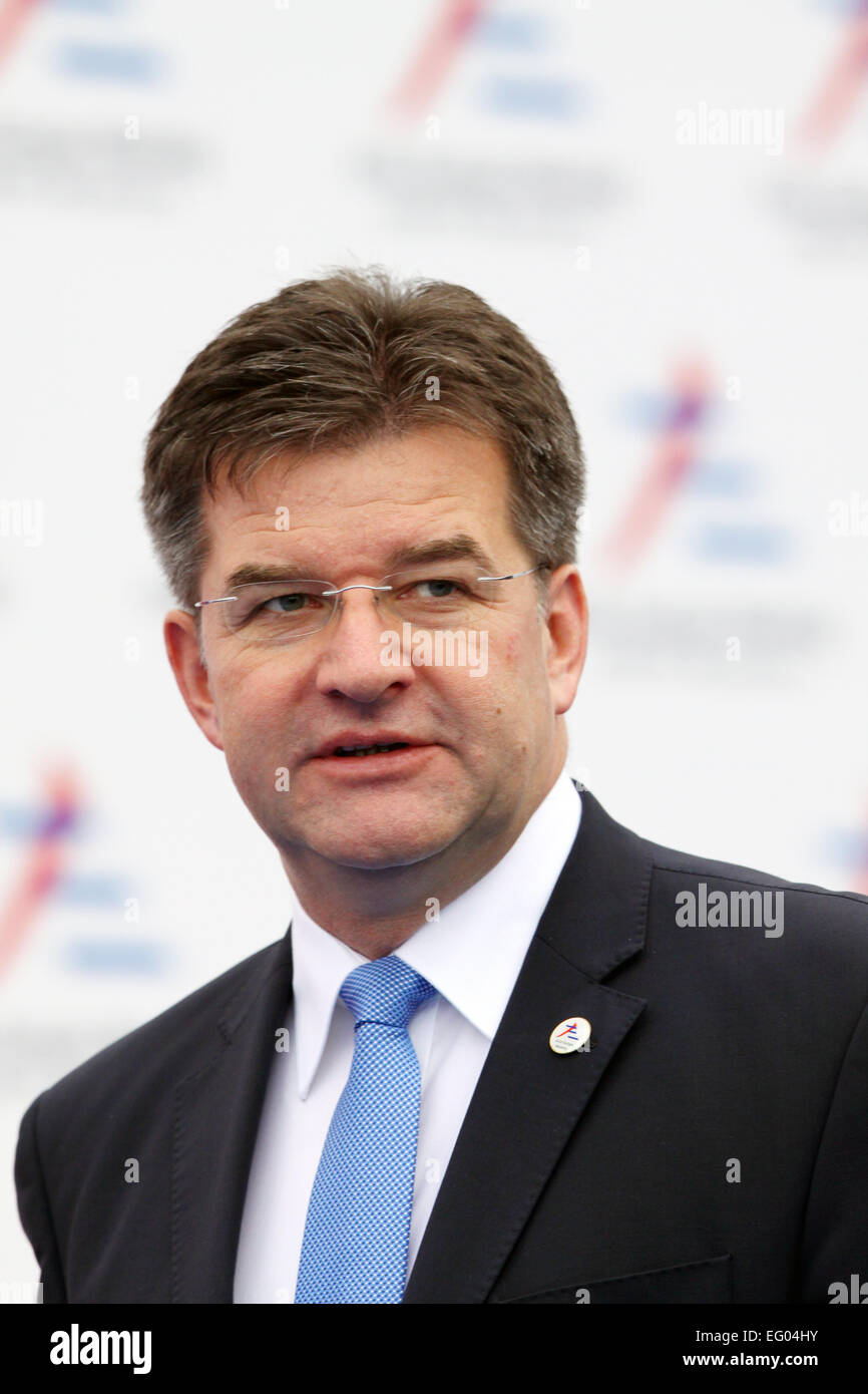 Italy, Milan:10/17/2014. Slovakia's Deputy Prime Minister and Minister of Foreign and European Affairs Miroslav - Stock Image