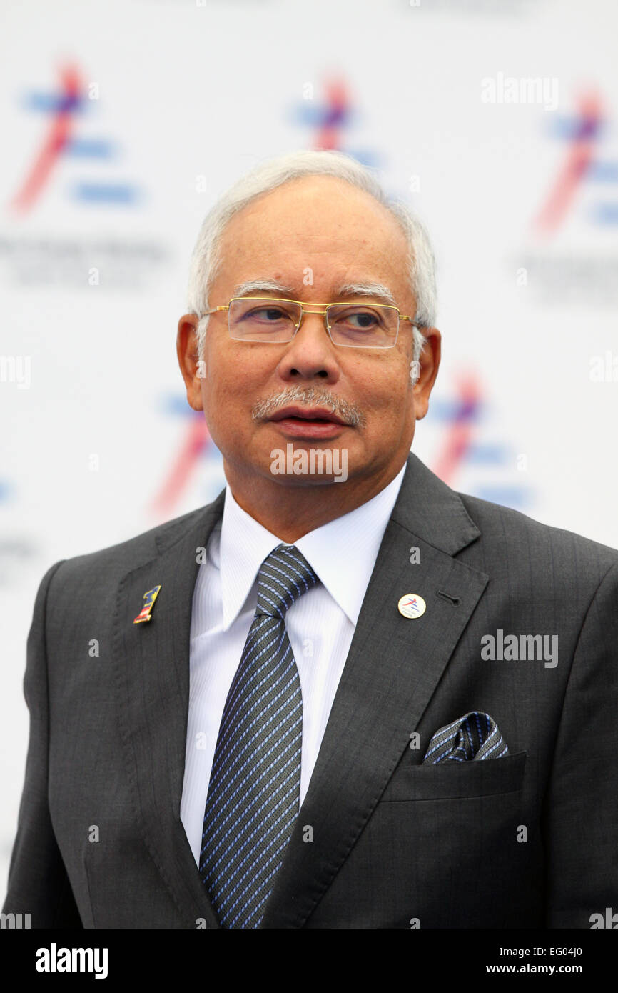 Italy, Milan:10/17/2014. Malaysian Prime Minister Najib Razak prior to the start of a session at the ASEM Summit. - Stock Image