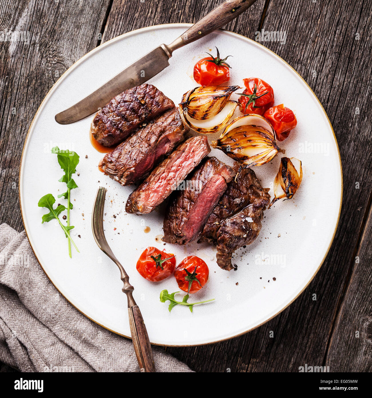 Sliced Steak High Resolution Stock Photography And Images Alamy