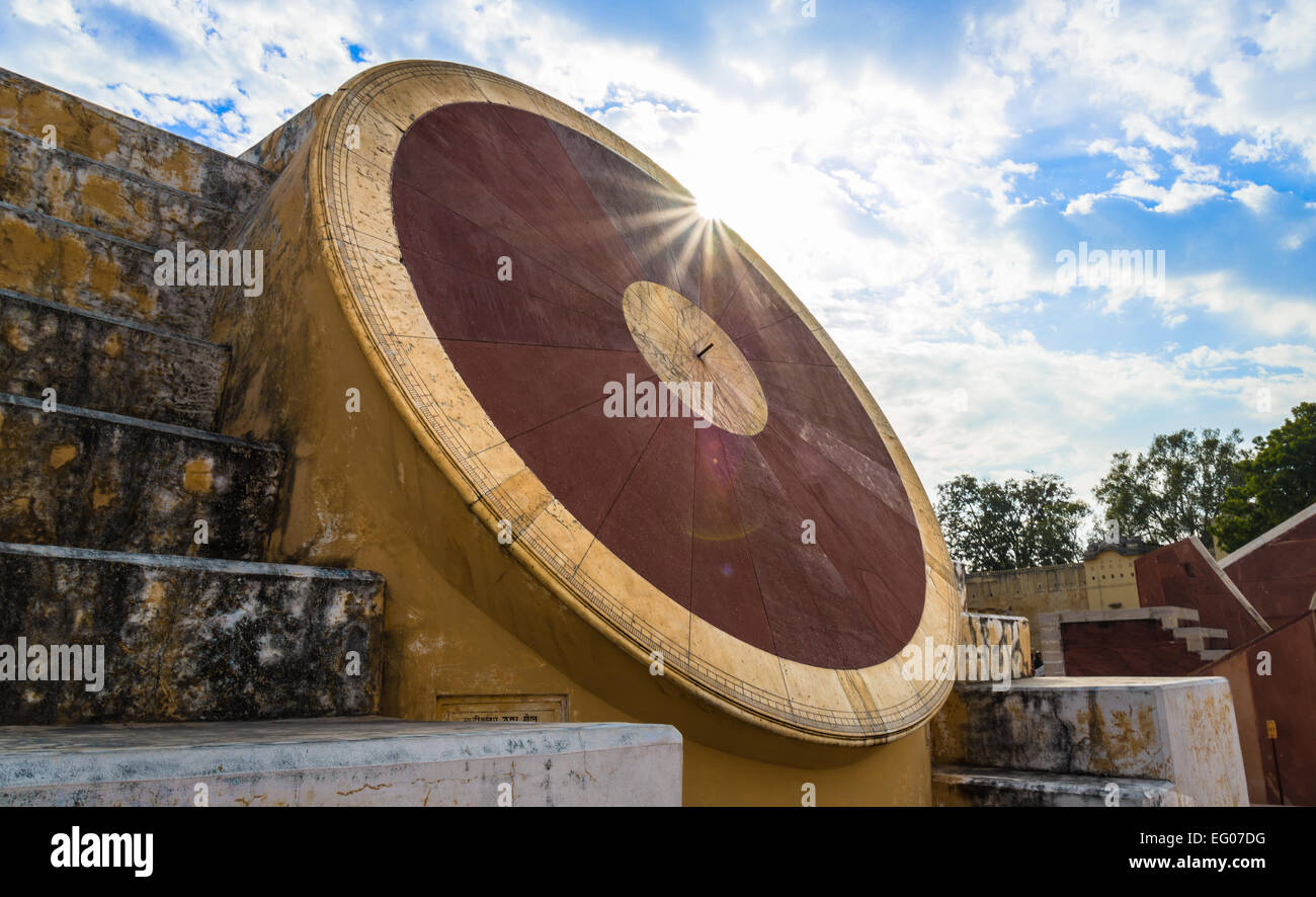 Astronomical instrument at Jantar Mantar observatory - Jaipur Rajasthan India Stock Photo