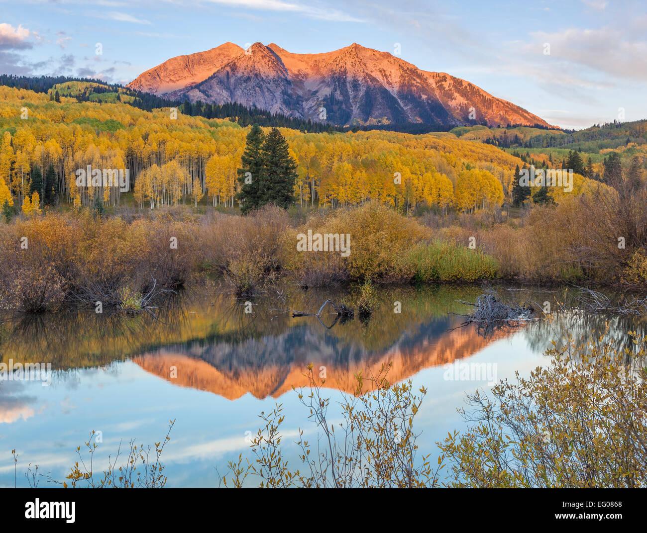 gunnison national forest west elk mountains co sunrise light on