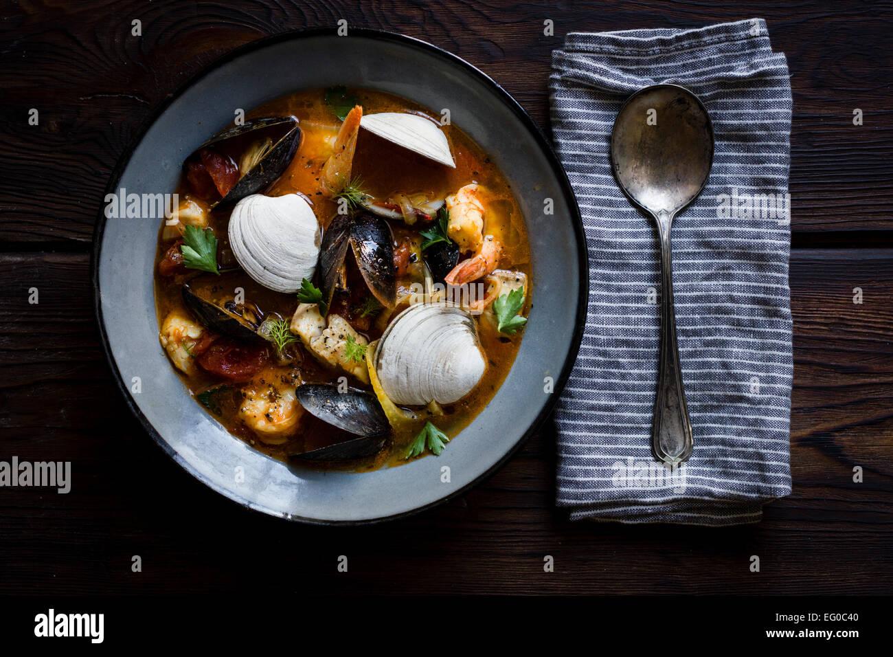 Cioppino fish stew, originating in San Francisco - Stock Image