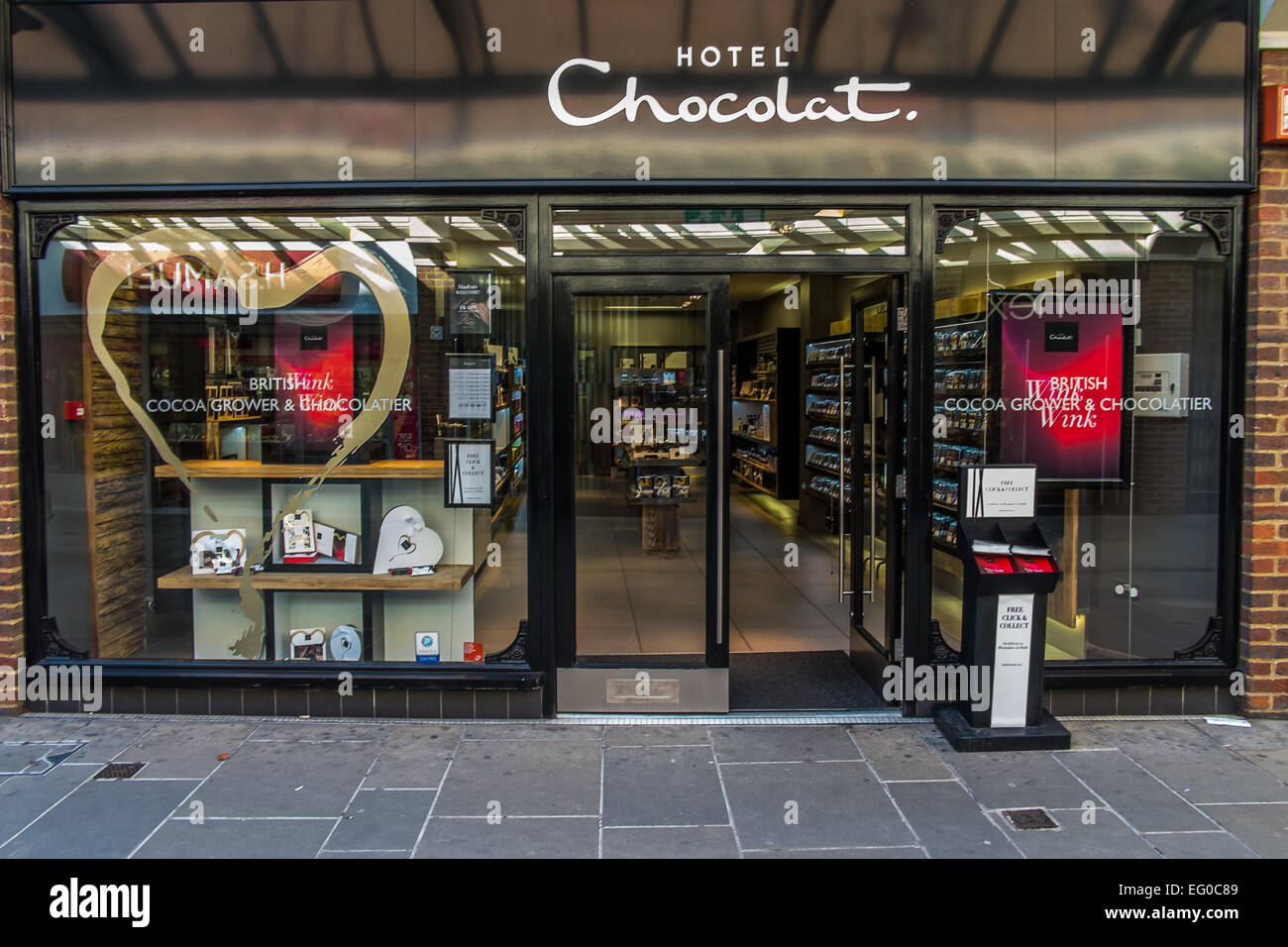 Hotel chocolate  in Salisbury Wiltshire - Stock Image