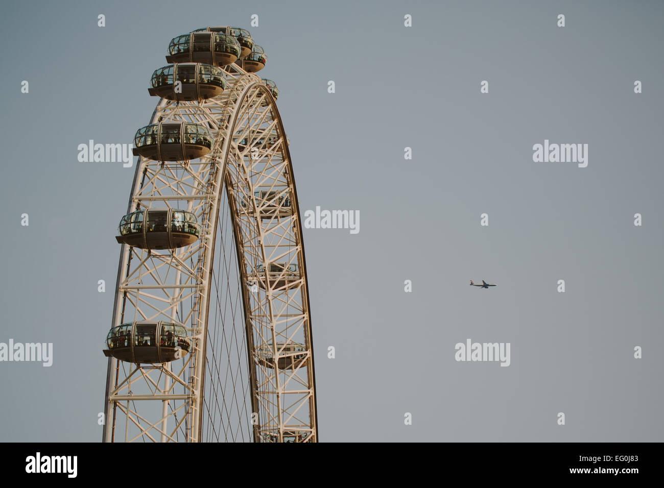 UK, London, Millenium Wheel Stock Photo
