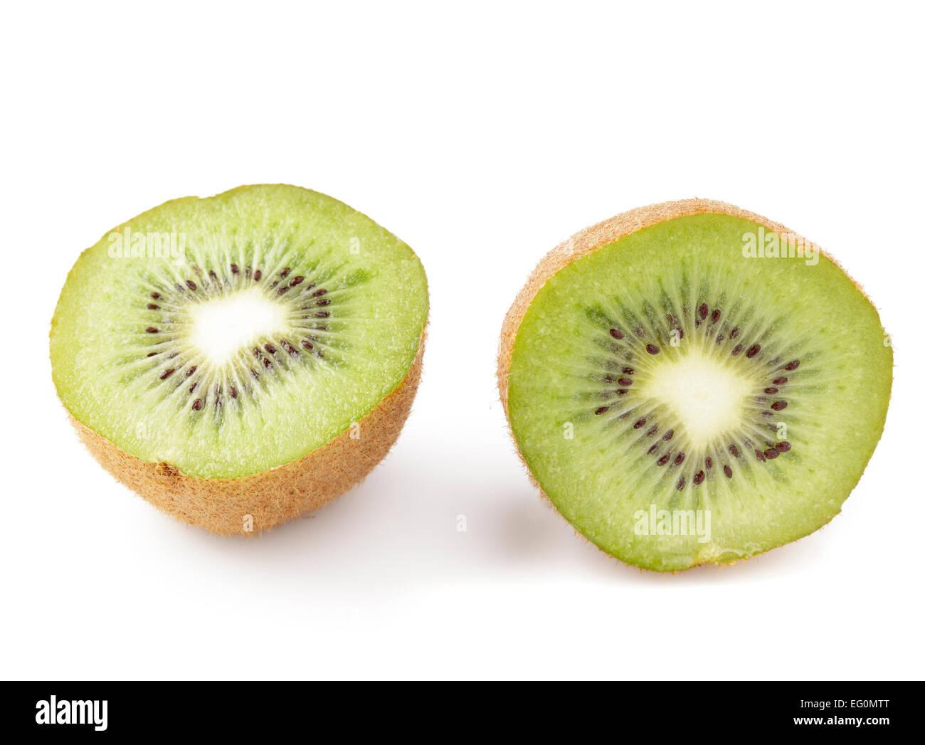 kiwi fruit cut in half - Stock Image