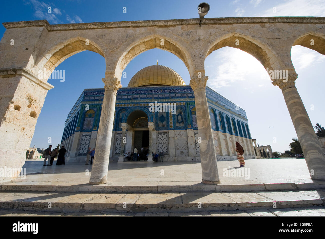 Dome of the rock on the Temple Mount in Jerusalem Stock Photo