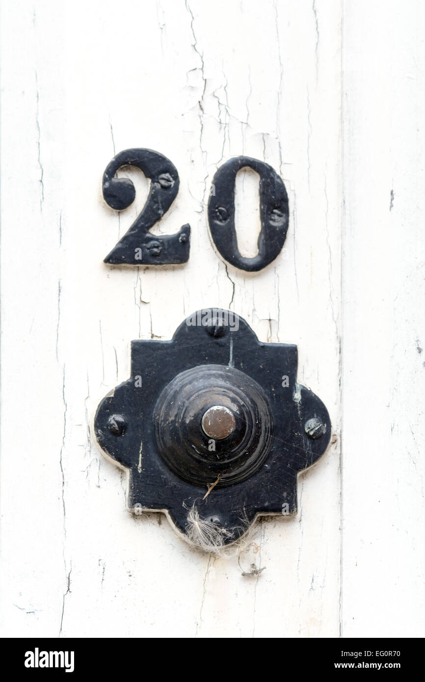 Ornate Door Bell Outside House Number 20