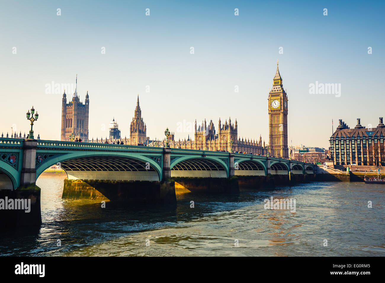 Big Ben and Houses of parliament, London - Stock Image