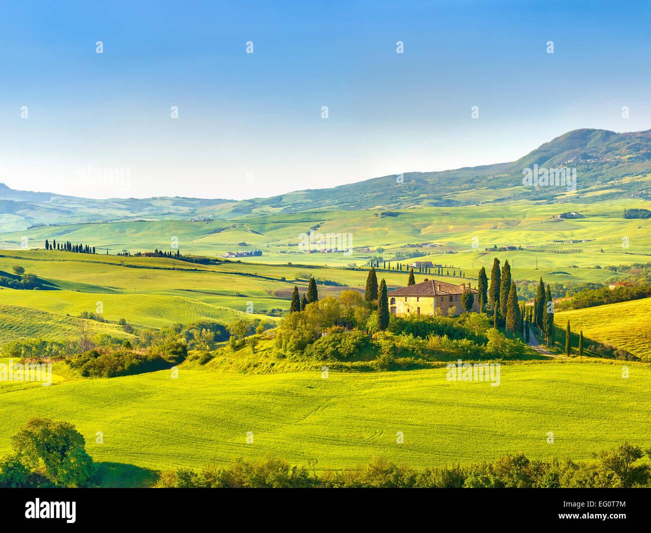 Tuscany at spring - Stock Image