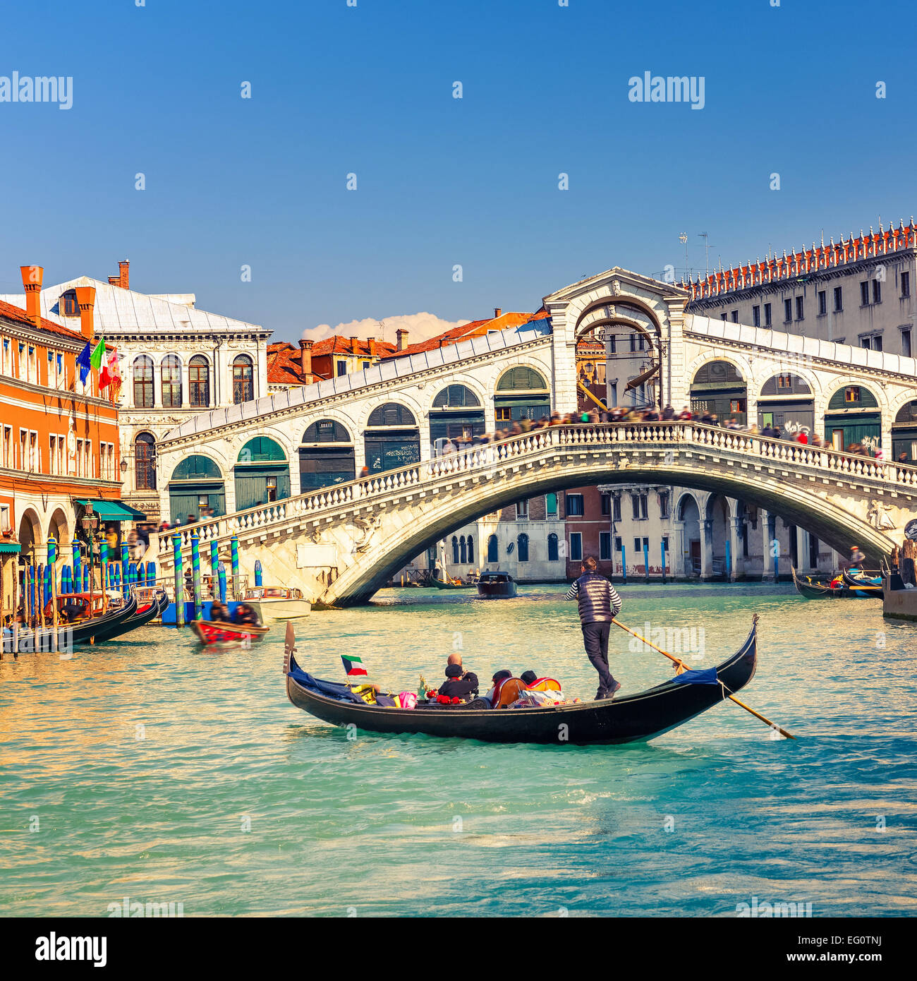 Rialto Bridge in Venice - Stock Image
