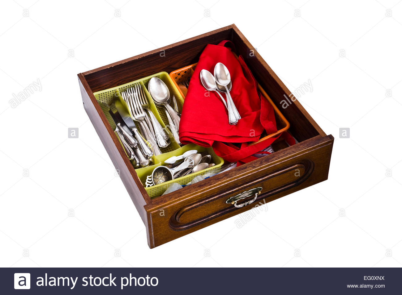 Cutlery Drawer Drawers Stock Photos & Cutlery Drawer Drawers