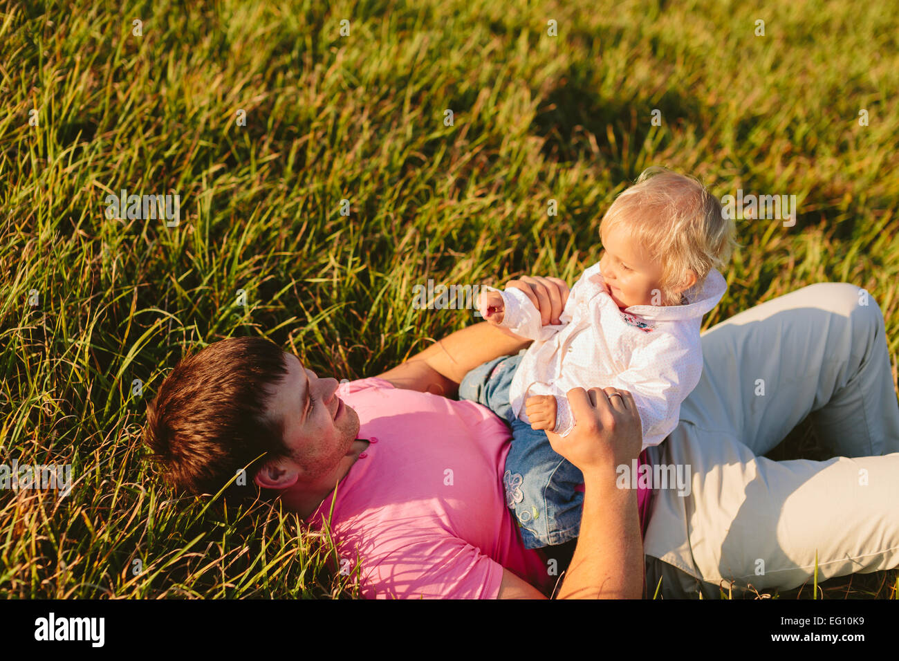 Dad and daughter - Stock Image