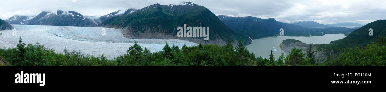 Mendenhall glacier and lake, Juneau, Alaska Stock Photo