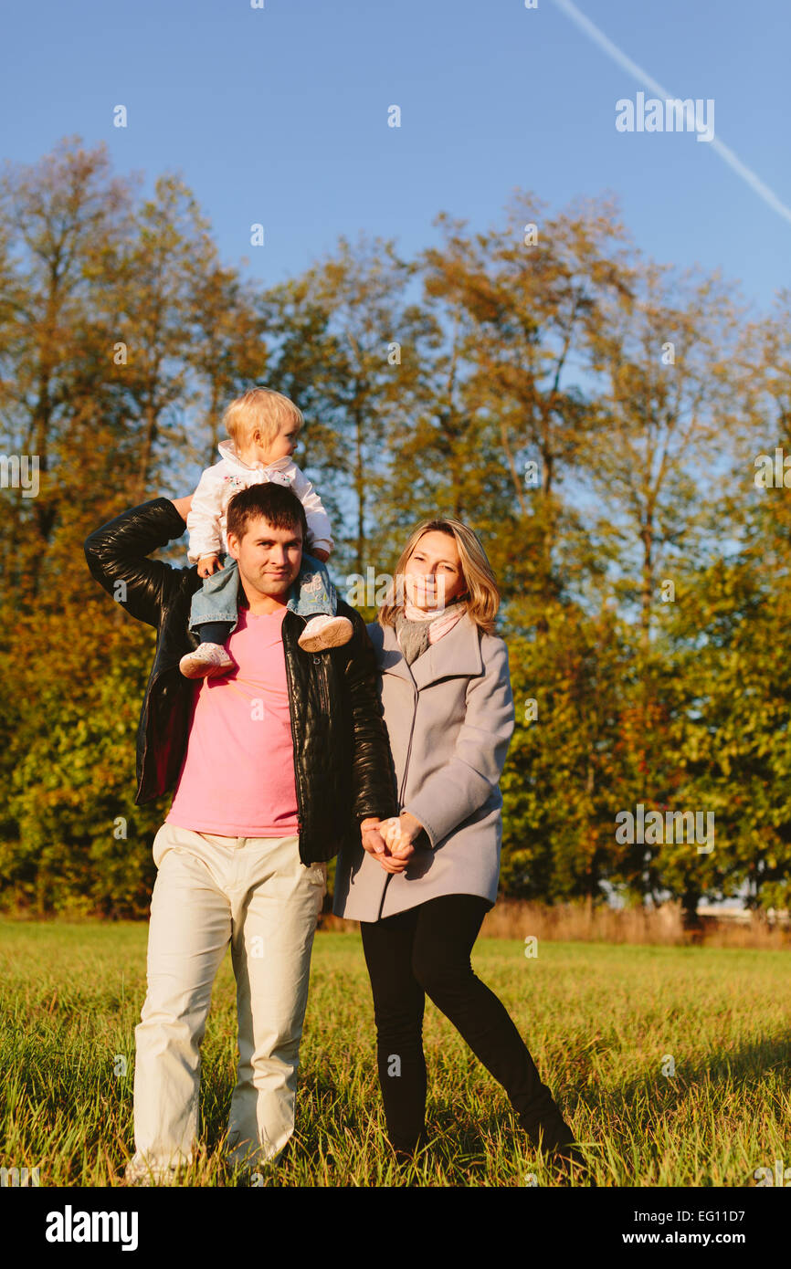 Family in the park - Stock Image