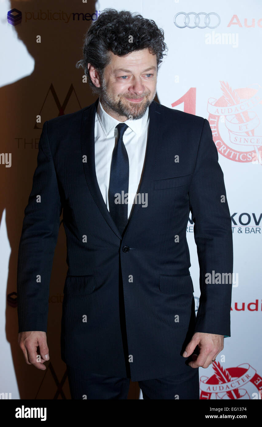 UNITED KINGDOM: British actor Andy Serkis poses for pictures on the red carpet as he arrives for the 34th London - Stock Image