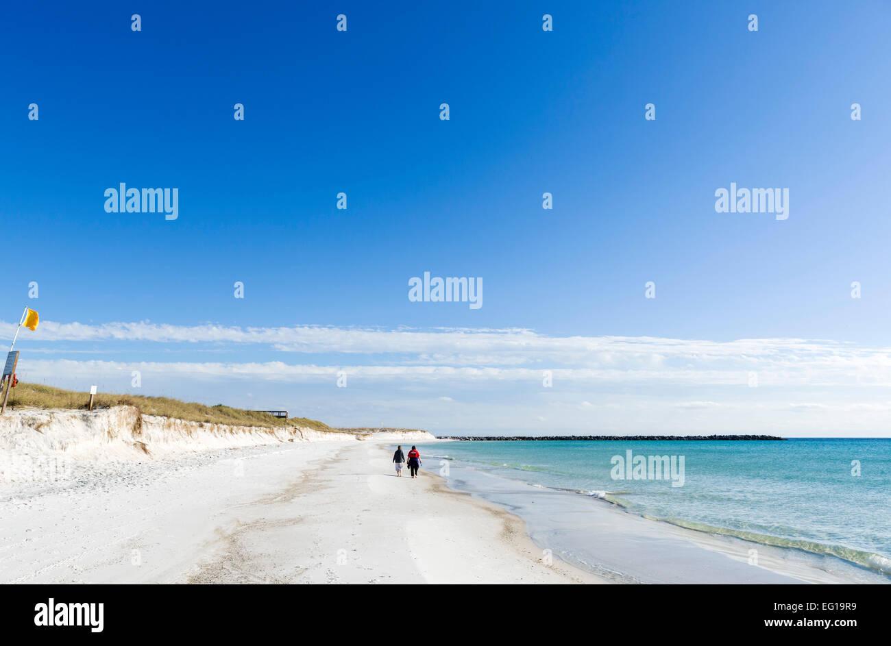 The Beach at St Andrews State Park, Panama City Beach, Florida, USA - Stock Image