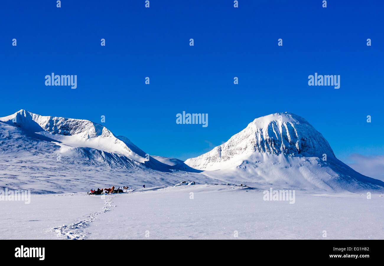 Camping in the arctic - Stock Image