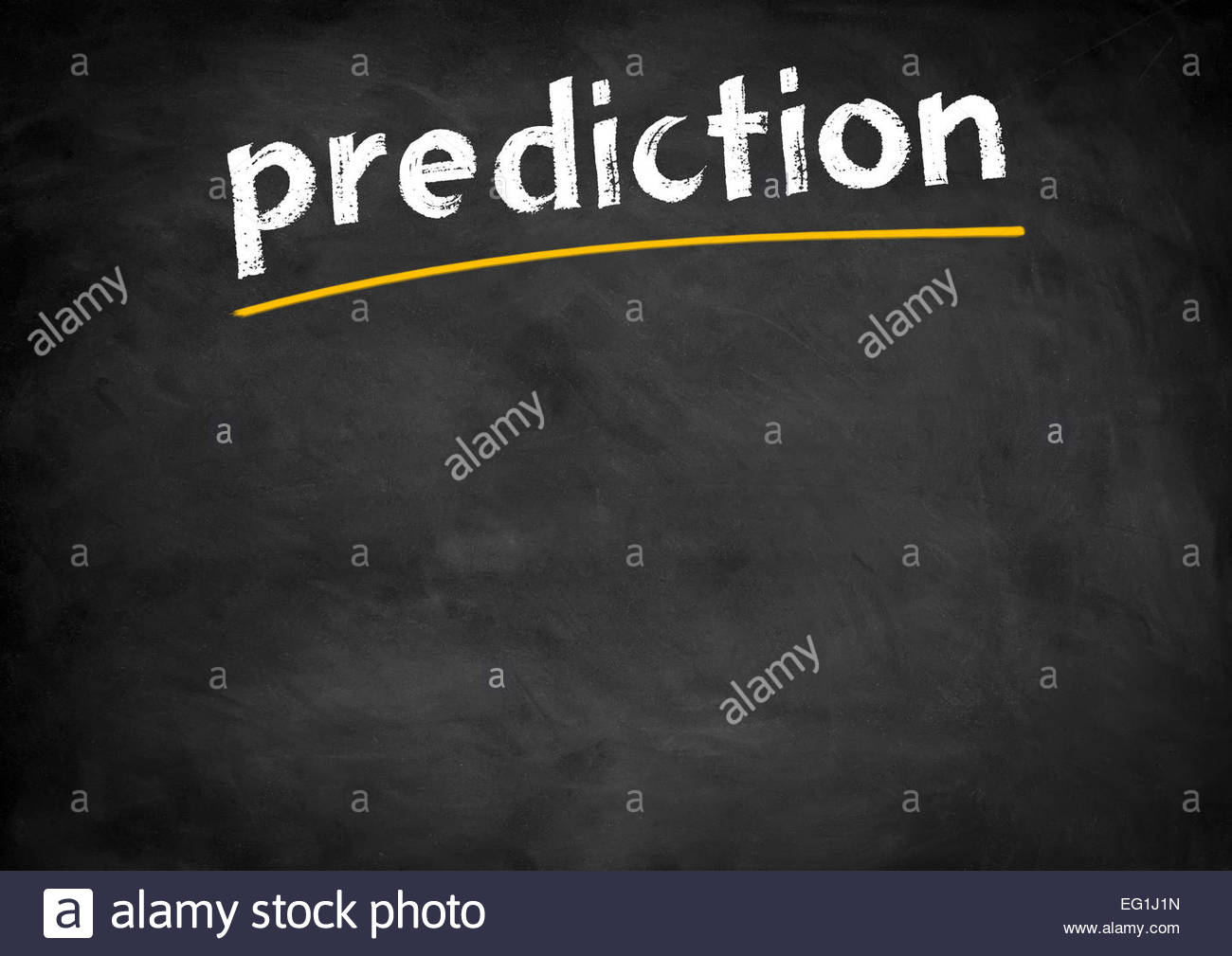 prediction chalkboard concept - Stock Image