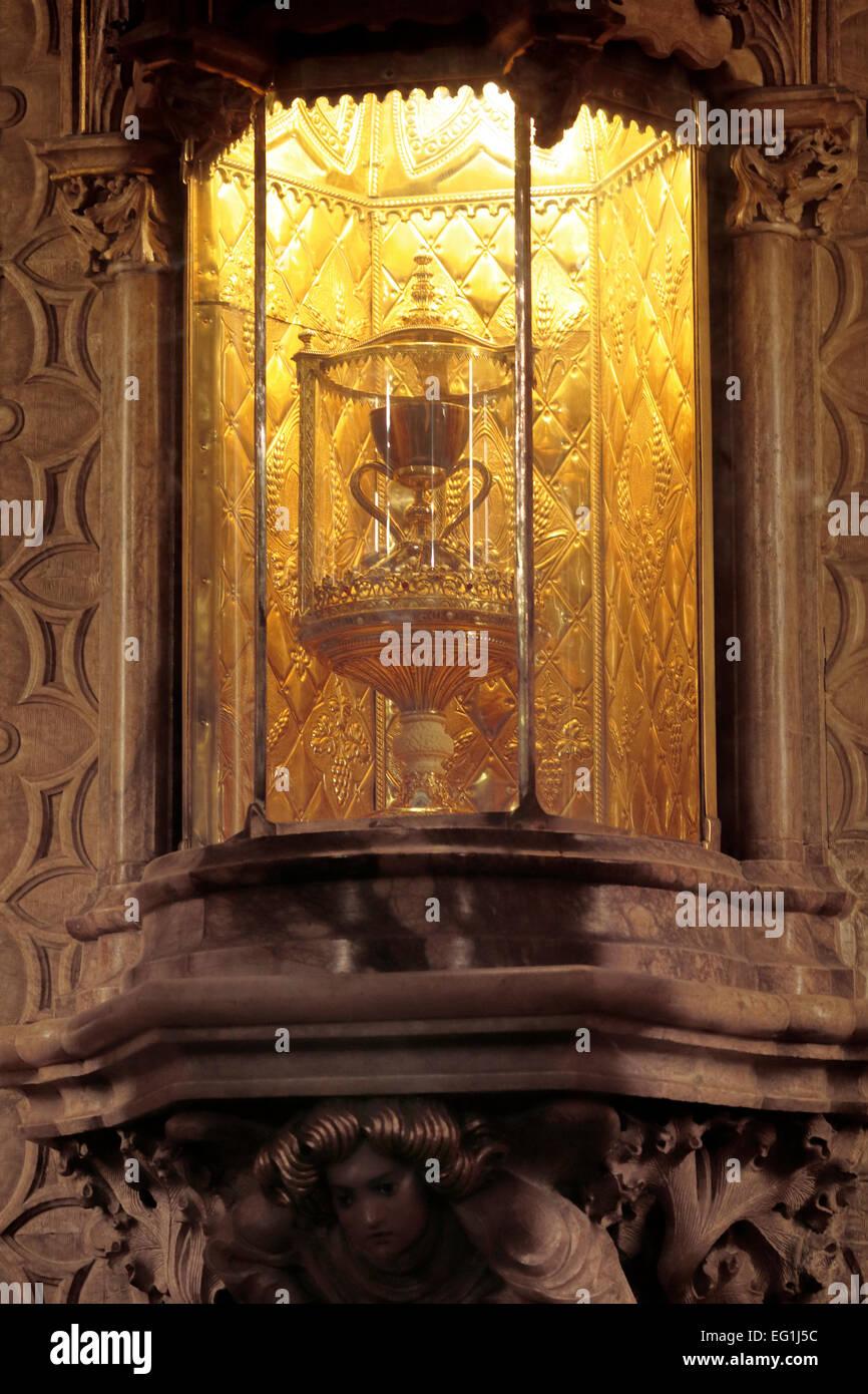 Holy Chalice, Valencia Cathedral, Valencia, Valencian Community, Spain - Stock Image