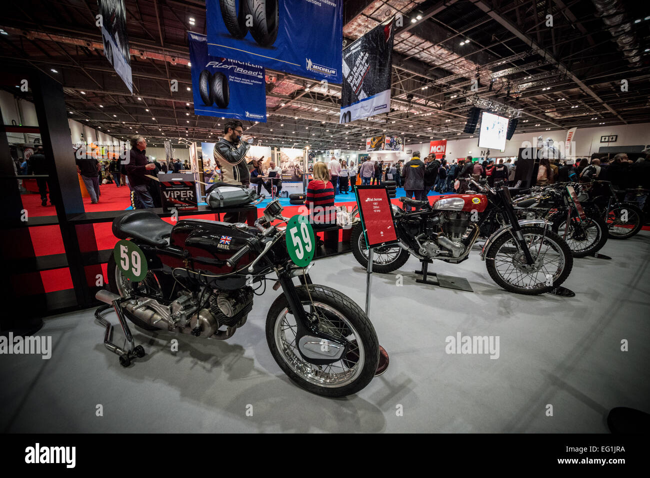The Carole Nash MCN London Motorcycle show - Stock Image