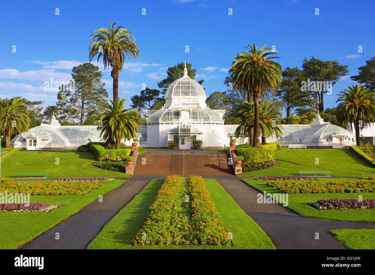 The Victorian Conservatory Of Flowers Botanical Garden In Golden Gate Stock Photo 78712779 Alamy