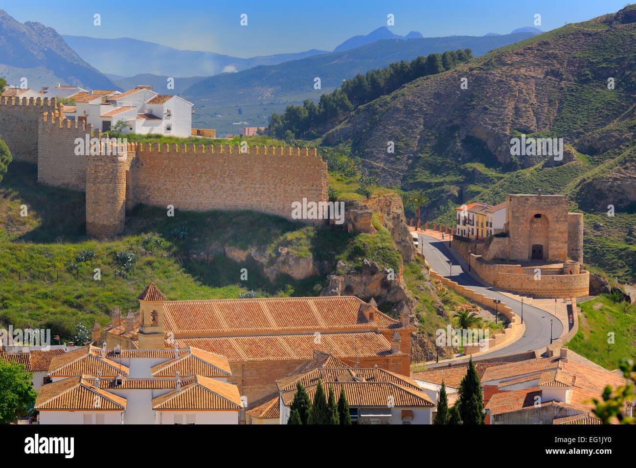 Alcazaba (castle), Antequera, Andalusia, Spain - Stock Image