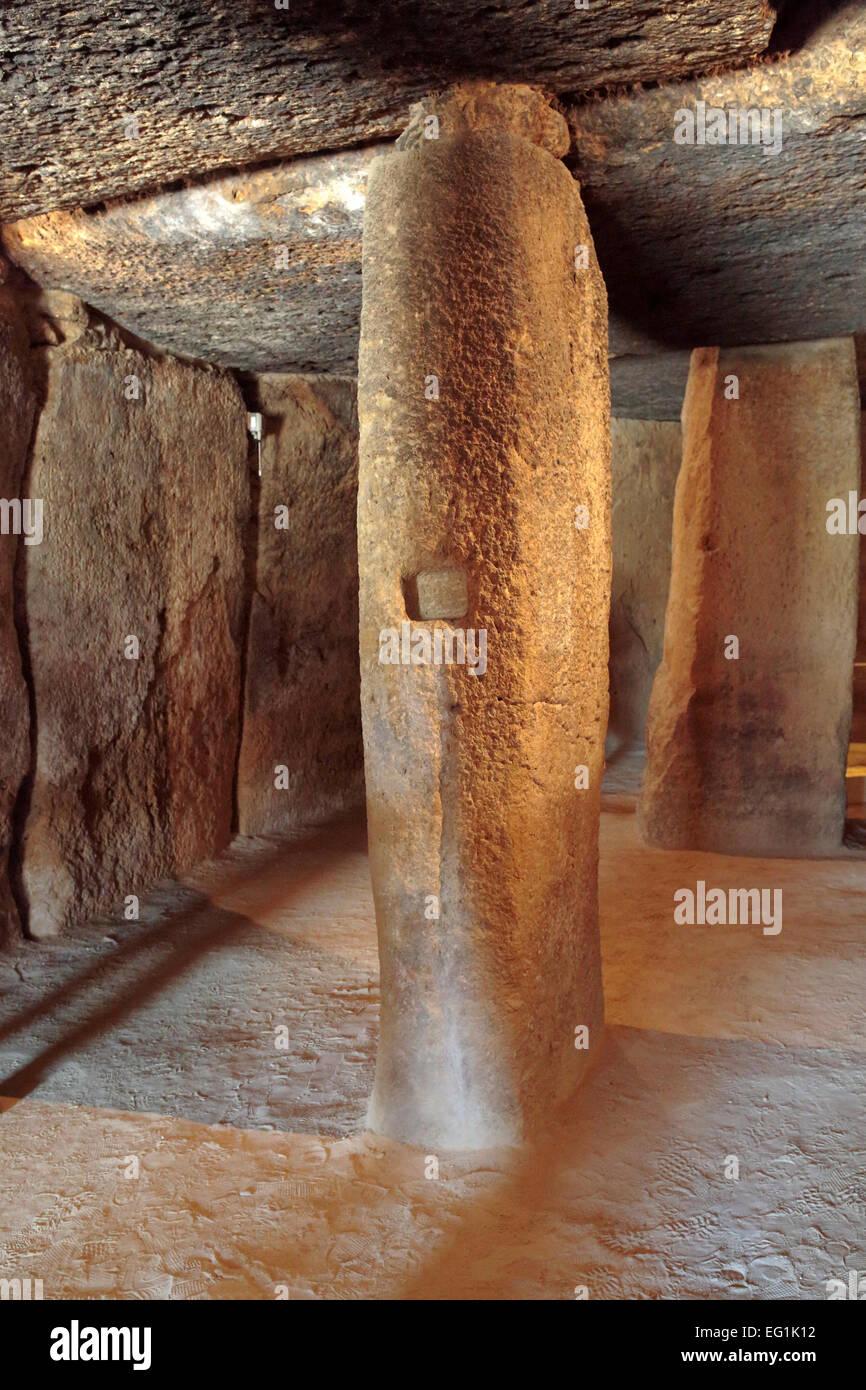 Dolmen of Menga, Antequera, Andalusia, Spain Stock Photo