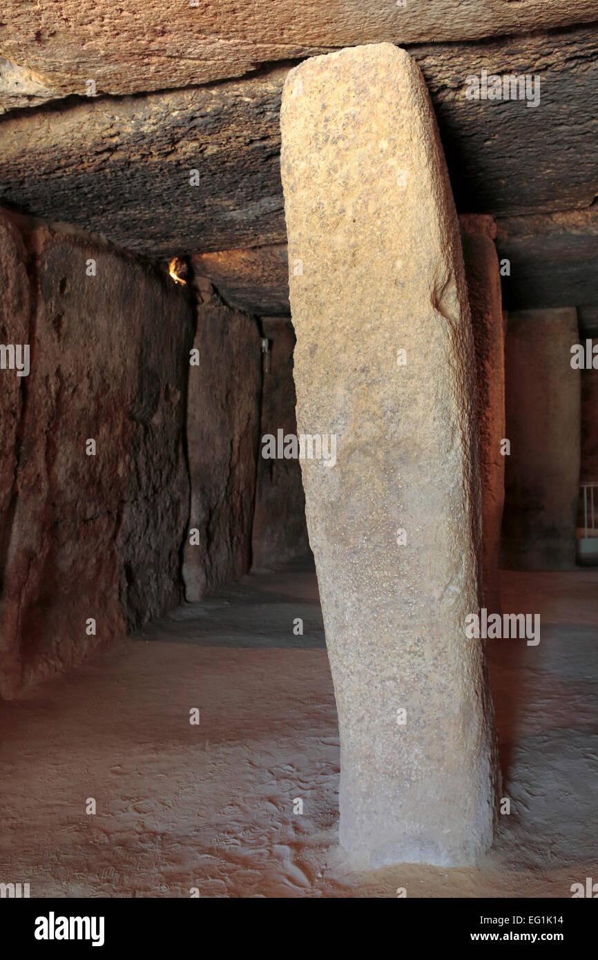 Dolmen of Menga, Antequera, Andalusia, Spain - Stock Image