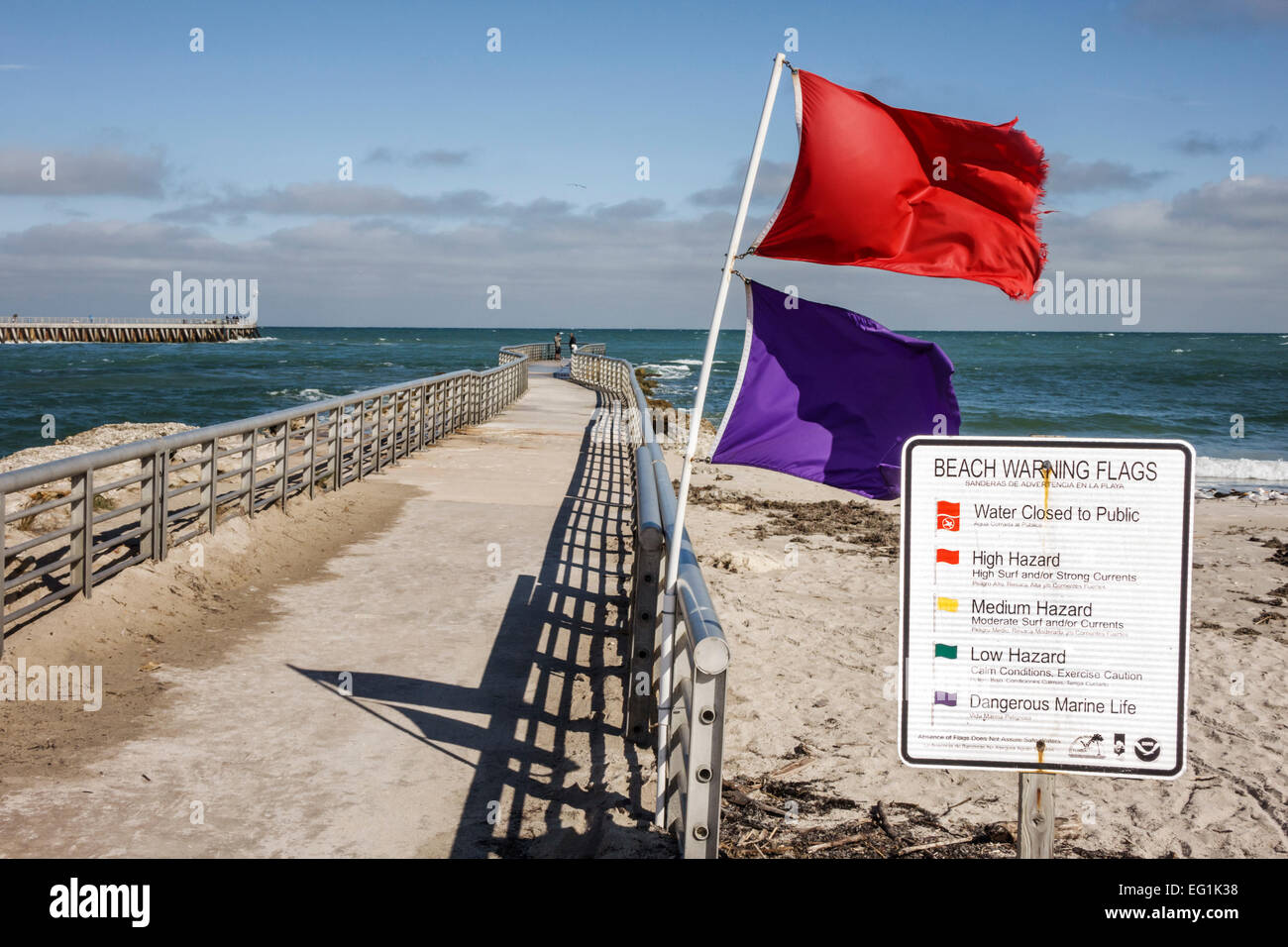 Warning Flags Stock Photos & Warning Flags Stock Images - Alamy