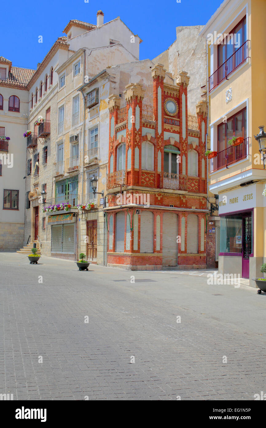 Street in old town, Jaen, Andalusia, Spain - Stock Image