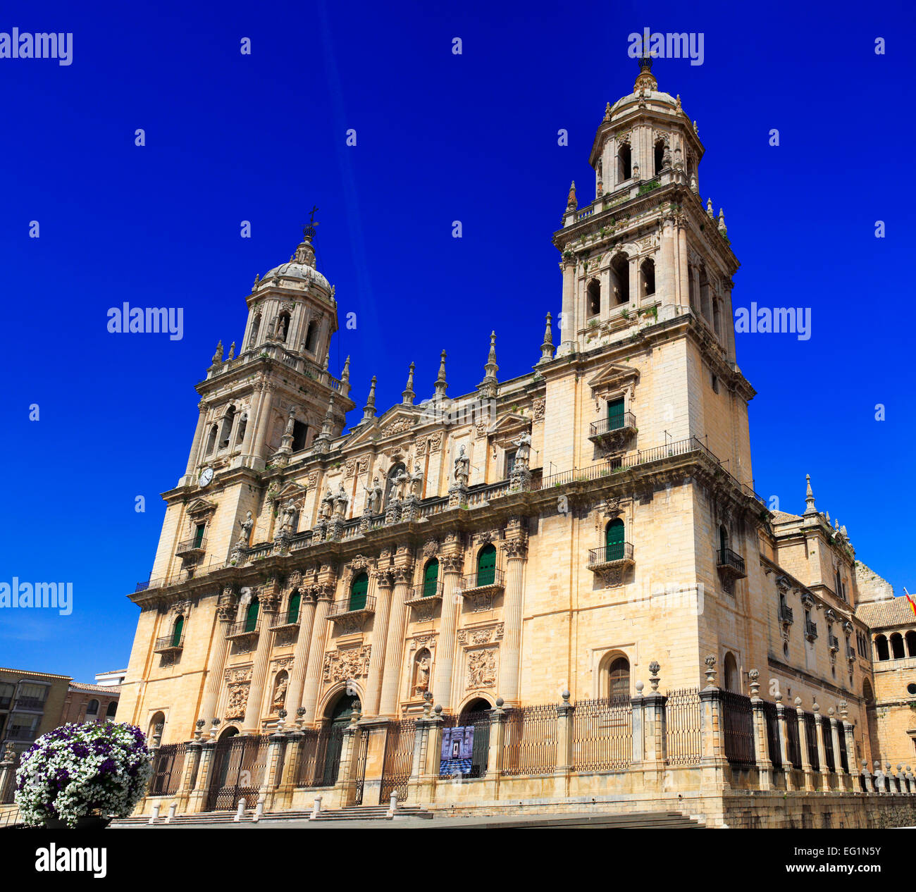 Cathedral, Jaen, Andalusia, Spain Stock Photo