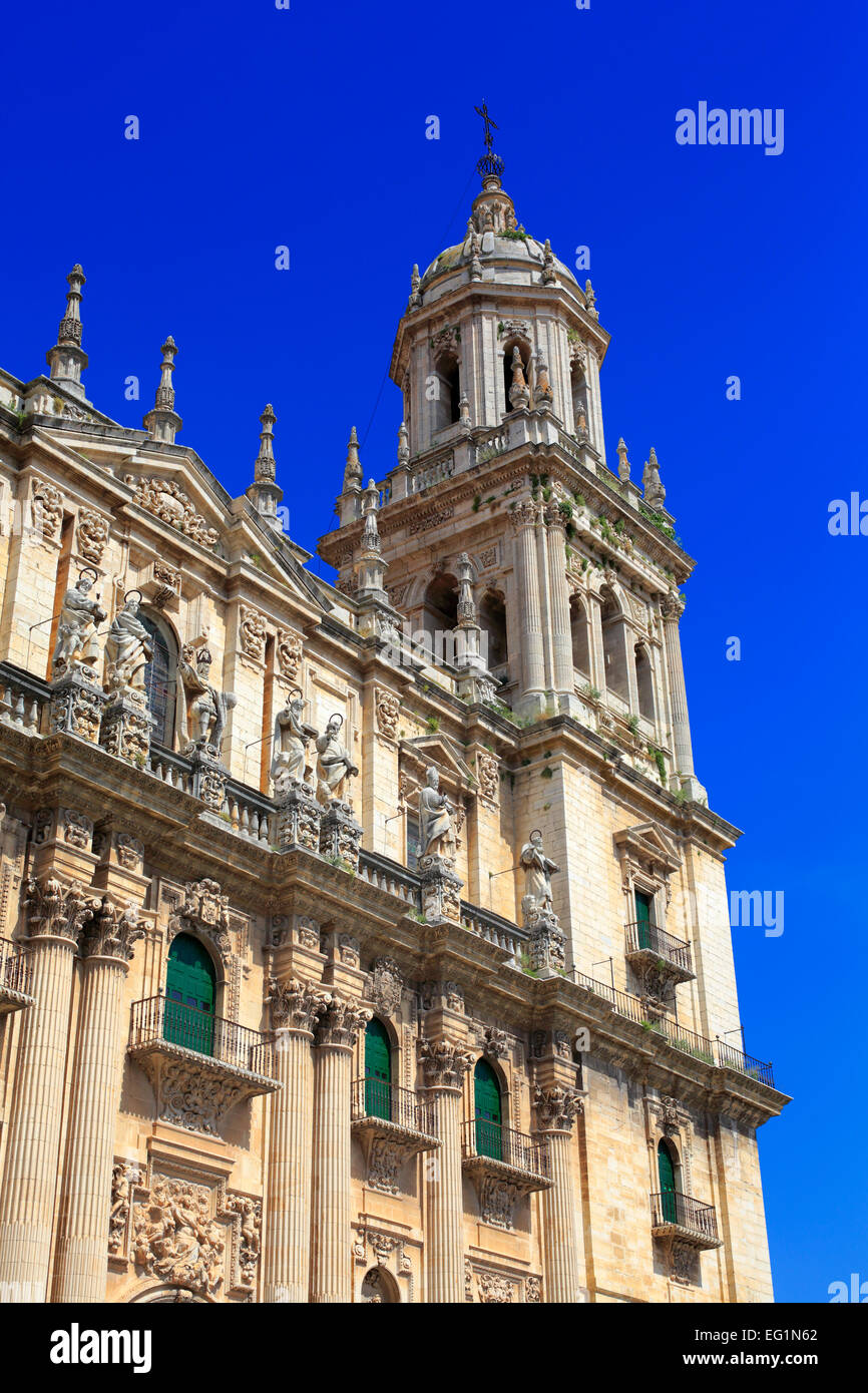 Cathedral, Jaen, Andalusia, Spain - Stock Image