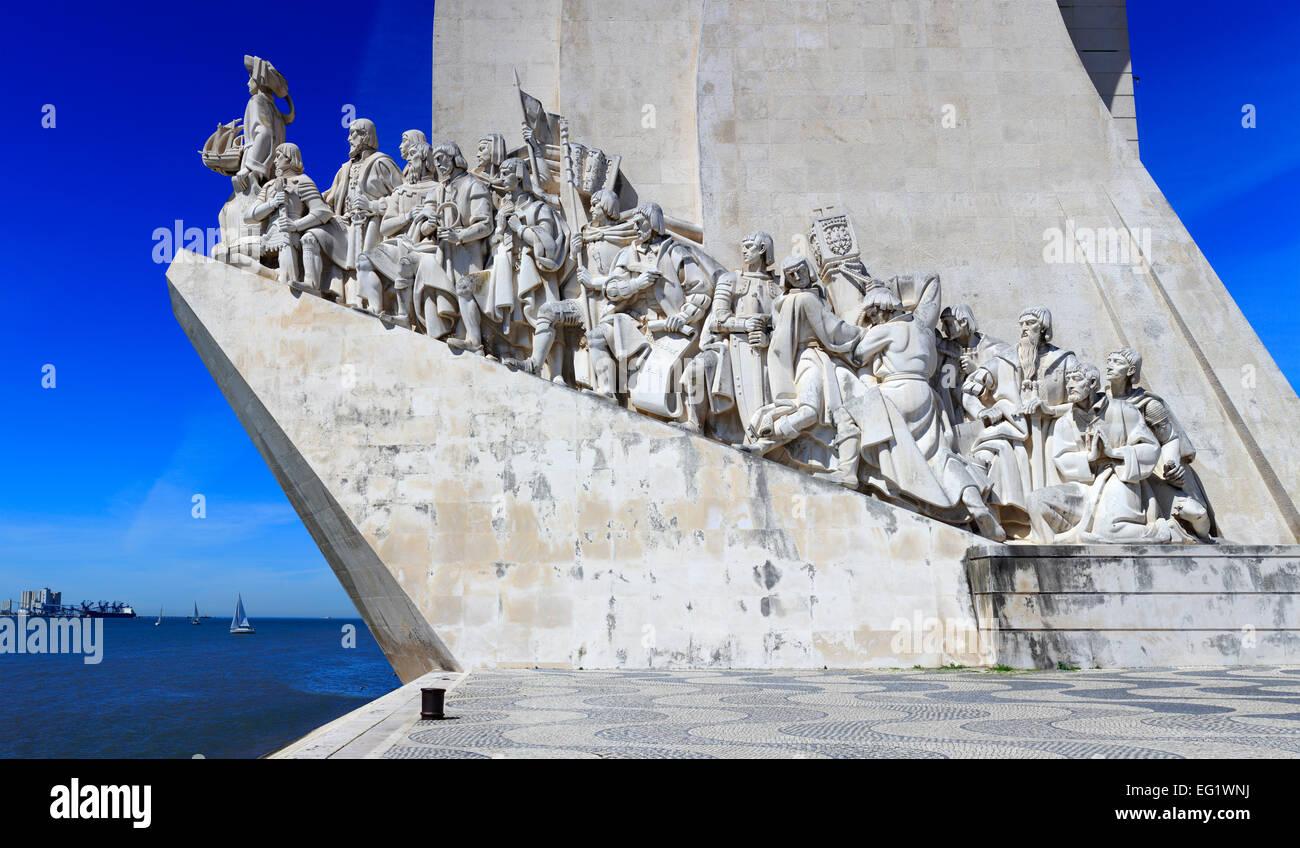 Monument to the Discoveries (Padrao dos Descobrimentos) (1960), Lisbon, Portugal - Stock Image