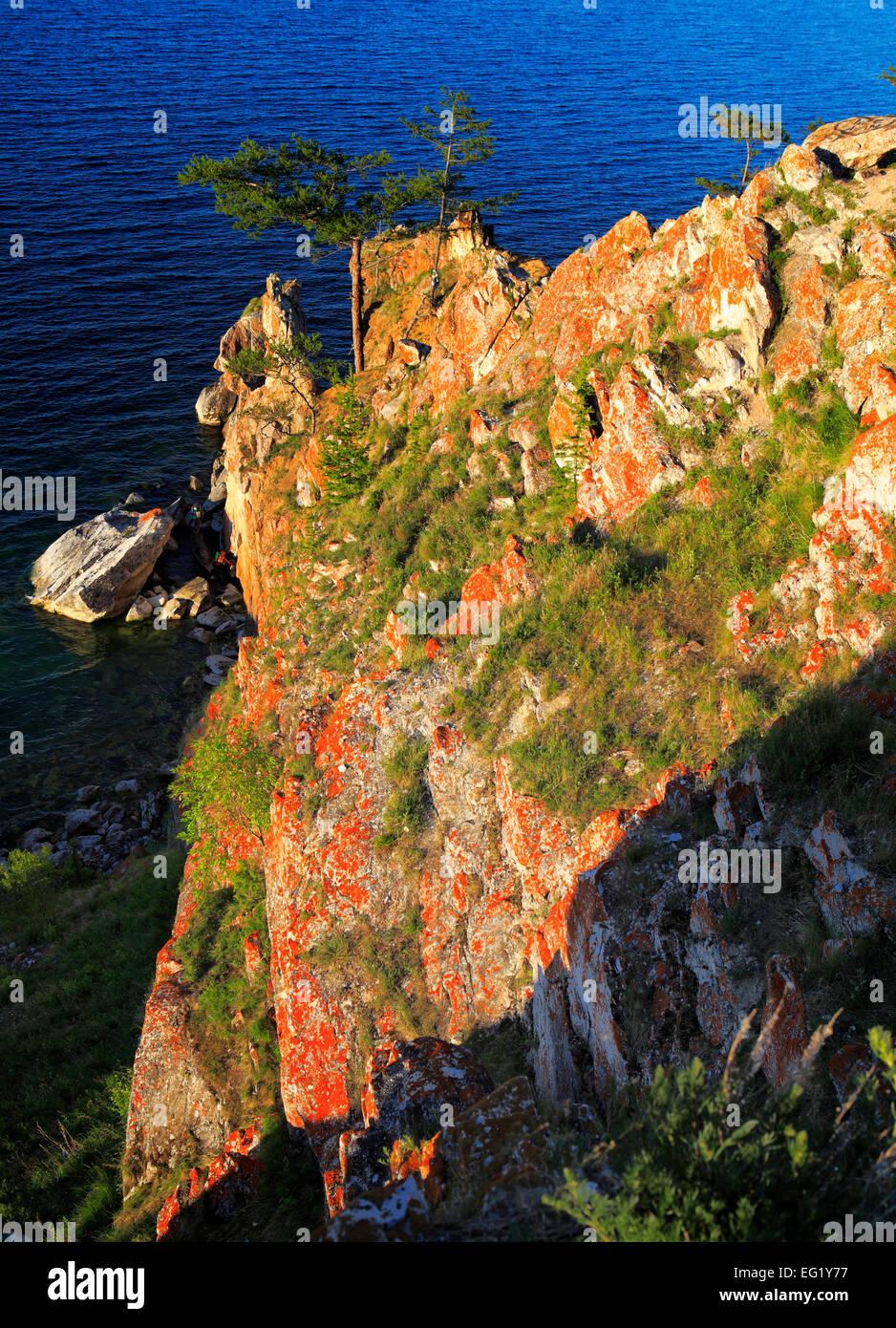 Olkhon island, landscape near Khuzhir, Baikal lake, Russia - Stock Image