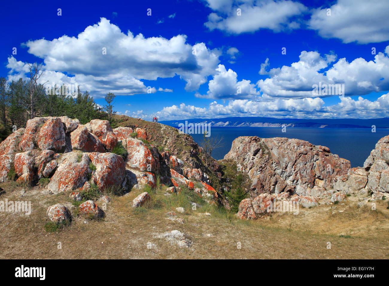 Olkhon island, Sagan Khushun cape, Baikal lake, Russia - Stock Image