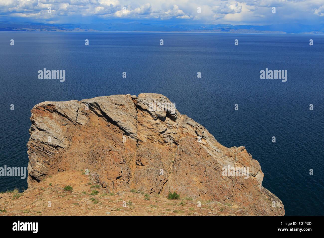 Olkhon island, Khoboy cape, Baikal lake, Russia - Stock Image