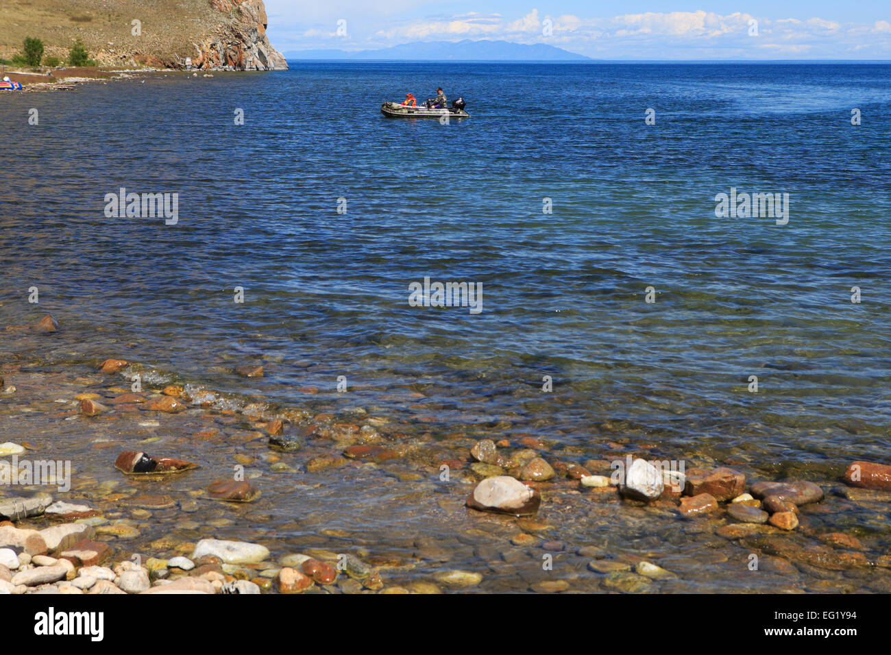 Olkhon island, Ugury, Baikal lake, Russia - Stock Image