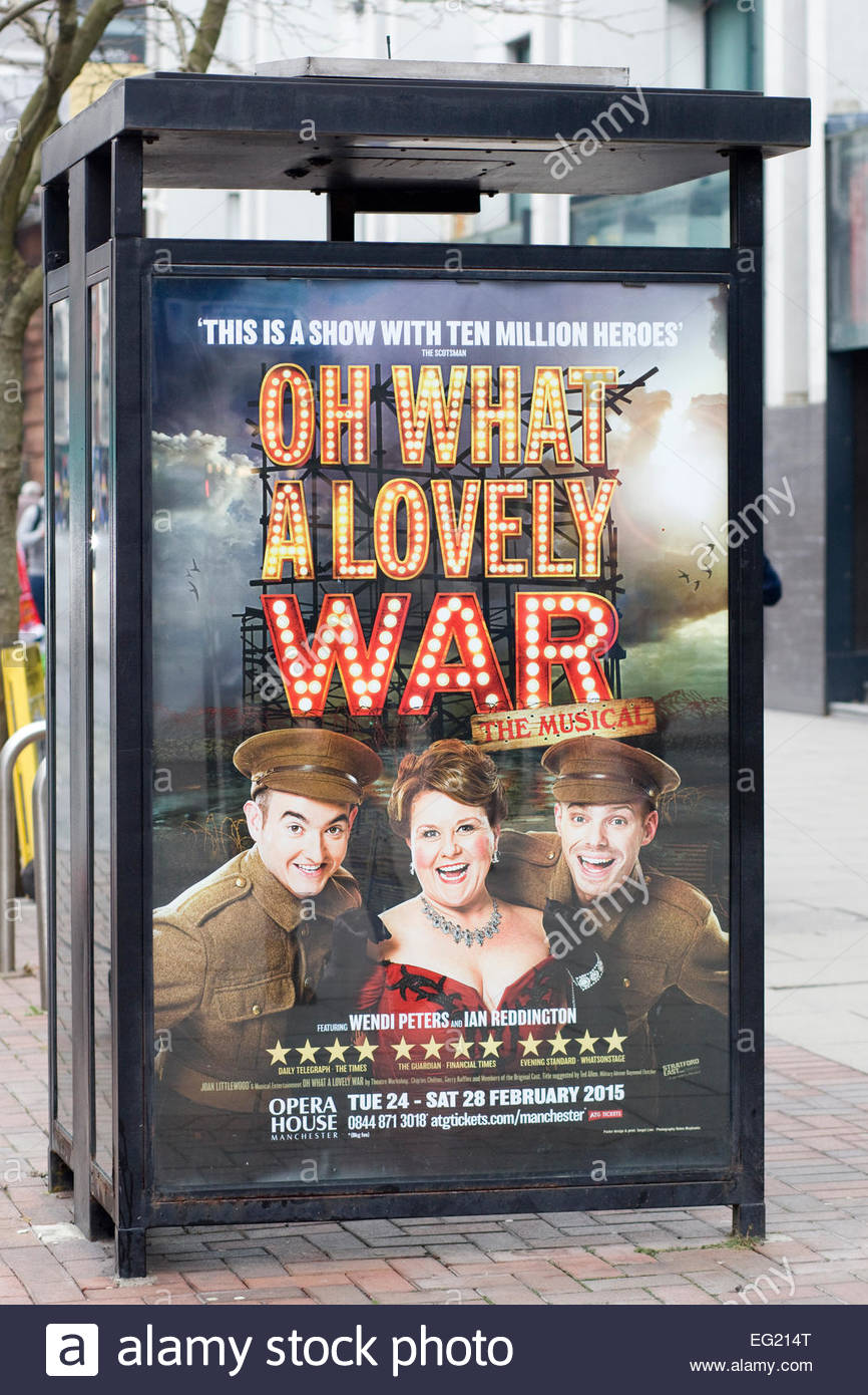 """Oh what a Lovely war """"The Musical"""" Poster Stock Photo"""