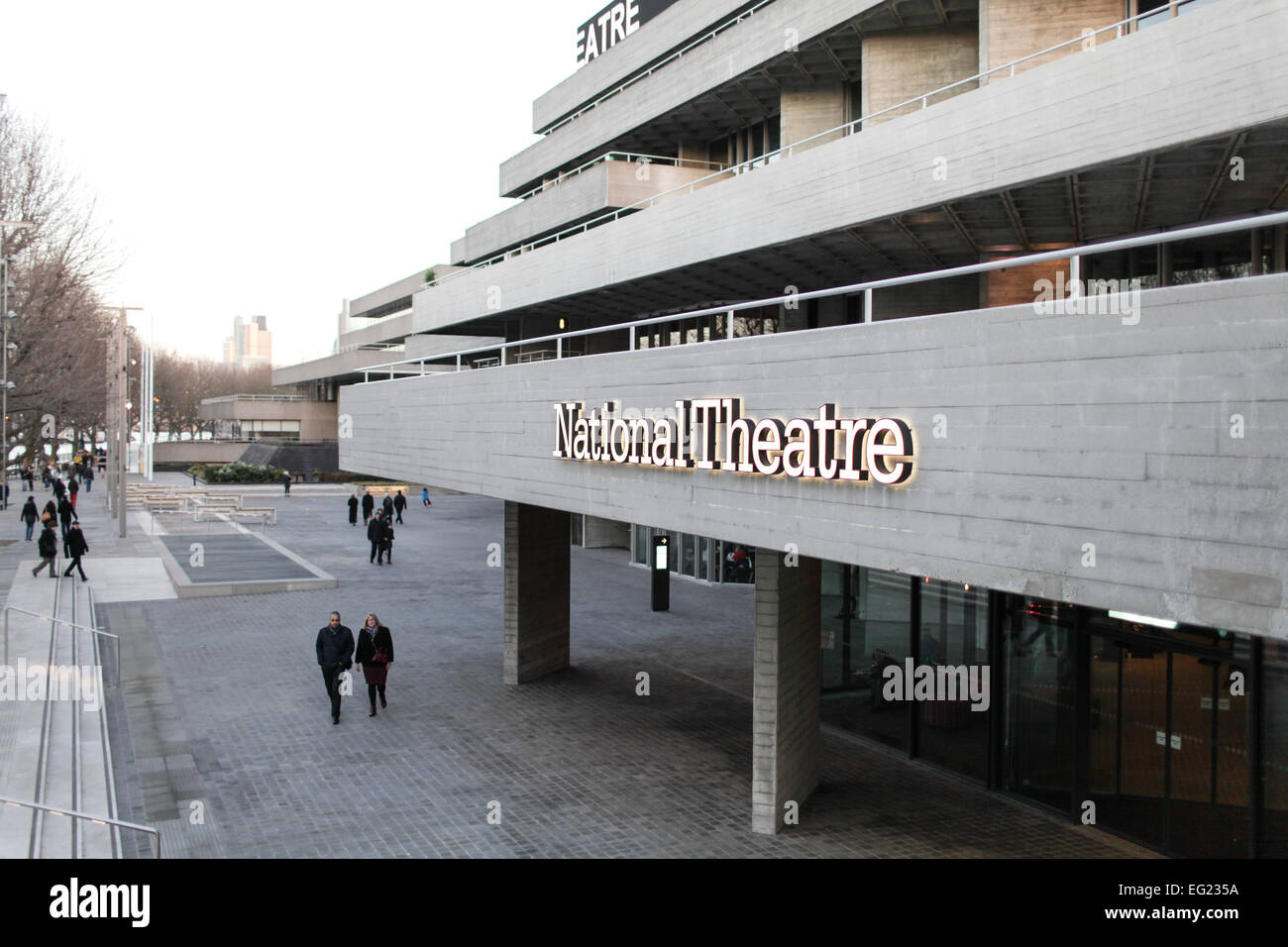 The National Theatre in London. - Stock Image