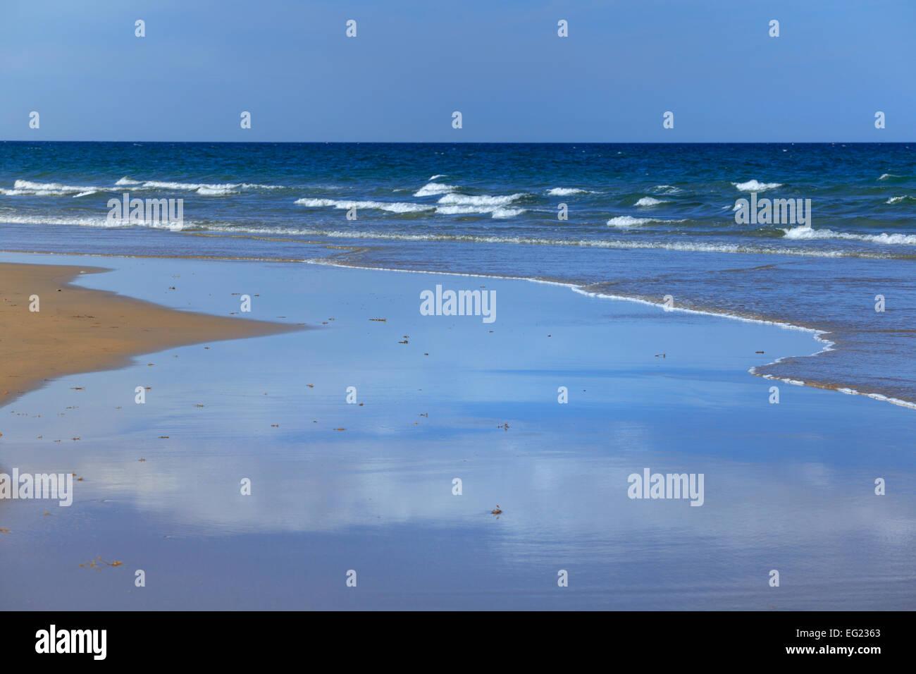 South China Sea beach near Tam Ky, Vietnam - Stock Image