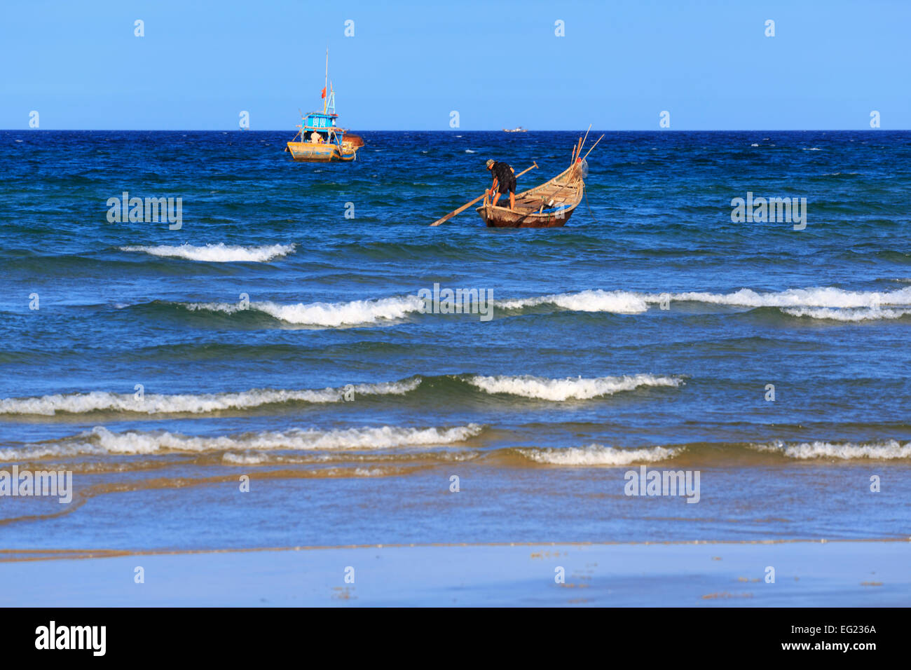 South China Sea beach near Tam Ky, Vietnam - Stock Image