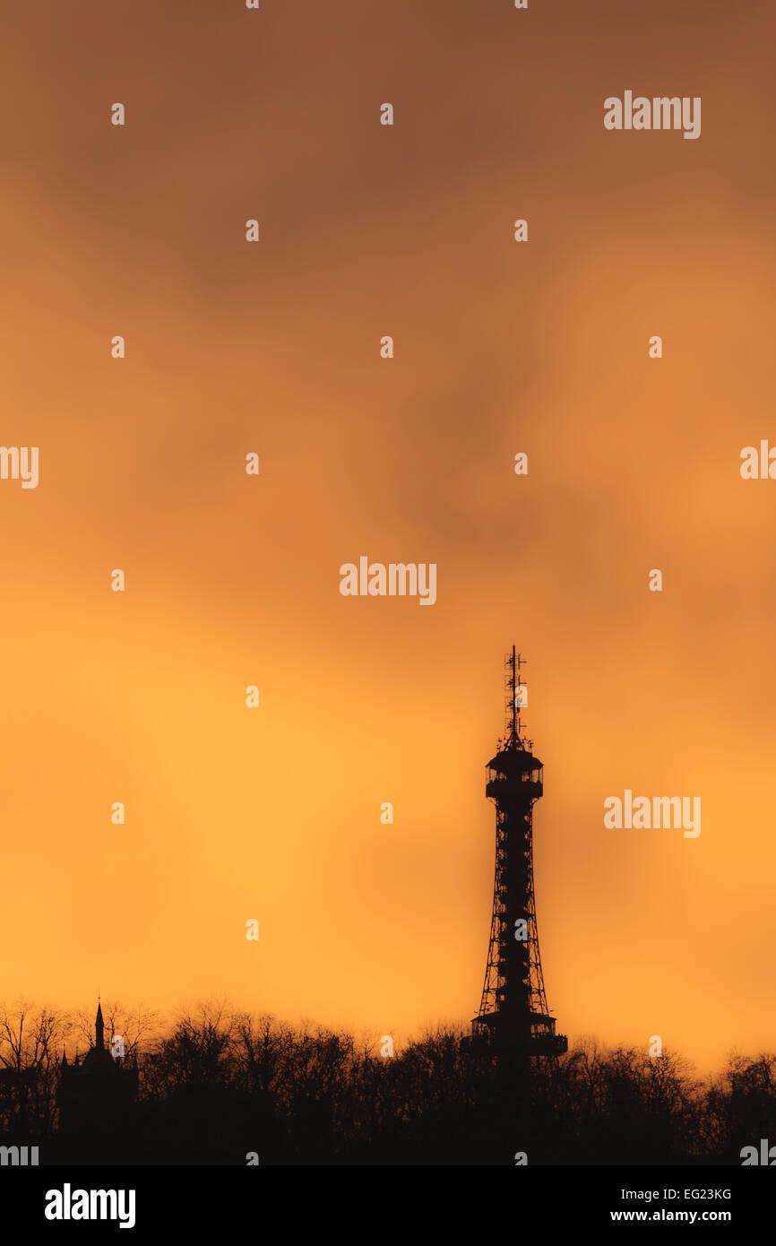 Petrin Tower - Stock Image