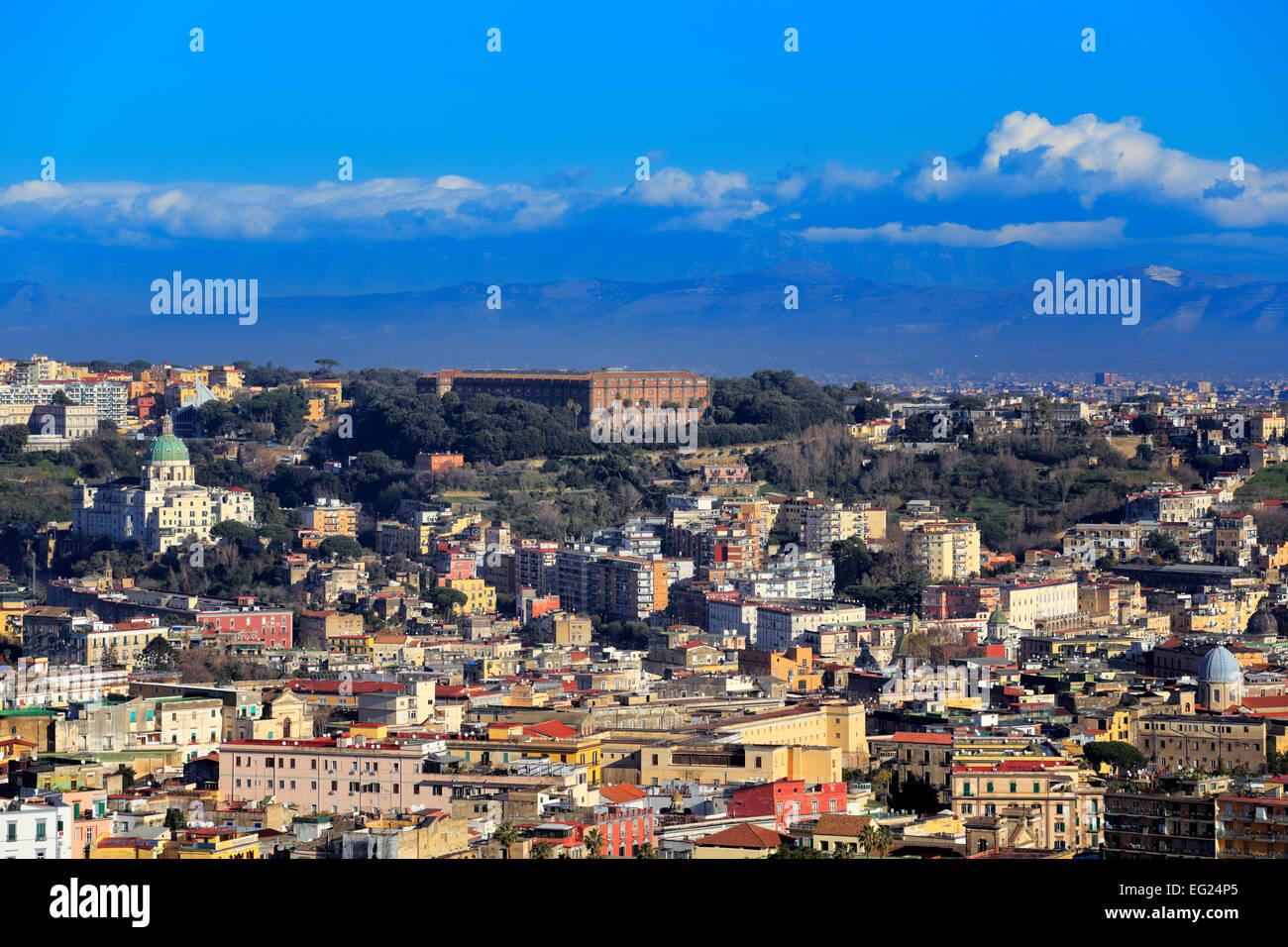 View to Capodimonte from Certosa di San Martino, Naples, Campania, Italy Stock Photo