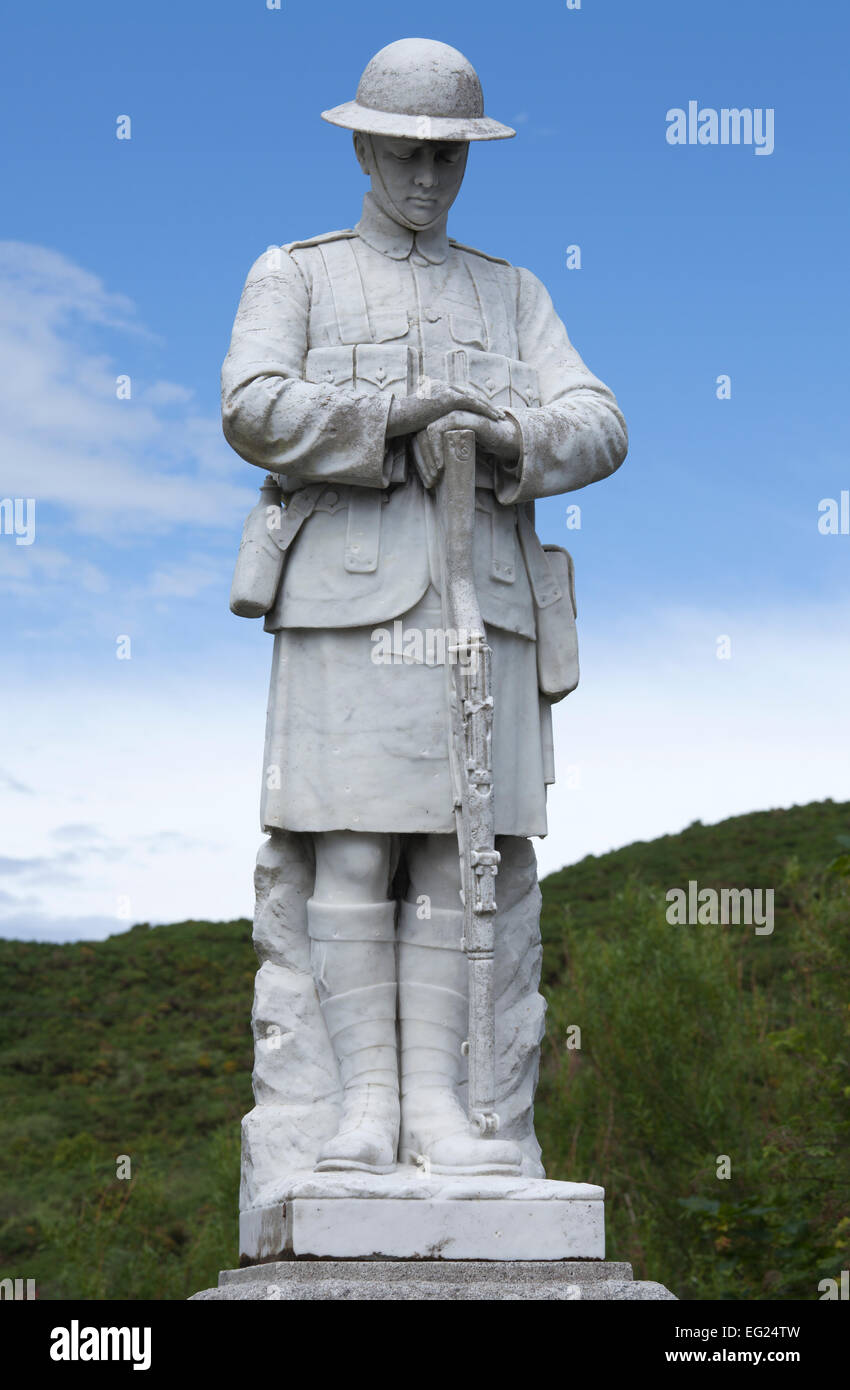 War Memorial, Scourie, Sutherland, Scotland UK - Stock Image