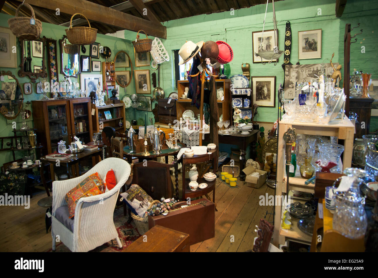 inside of a antique shop waterside antique centre ely england stock photo 78724081 alamy. Black Bedroom Furniture Sets. Home Design Ideas
