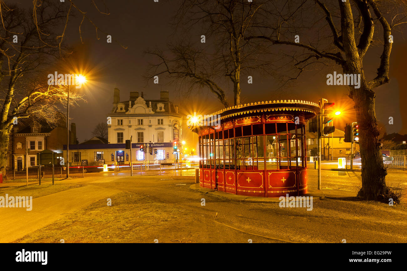 Old Tram shelter which was built in 1924 on the Kettering rd at The White Elephant junction. Northampton. - Stock Image