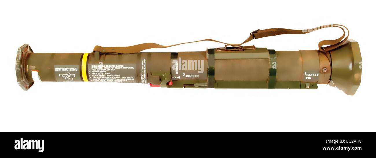 M136 AT4 Light Anti-tank Weapon Primary function: Anti-armor, gun emplacements, pillboxes, buildings and light vehicles. - Stock Image