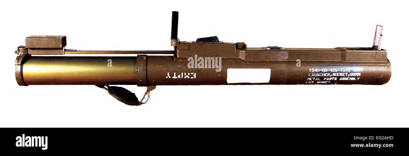 M72 Light Anti-tank Weapon Primary function: Anti-armor, gun emplacements, pillboxes, buildings and light vehicles. - Stock Image