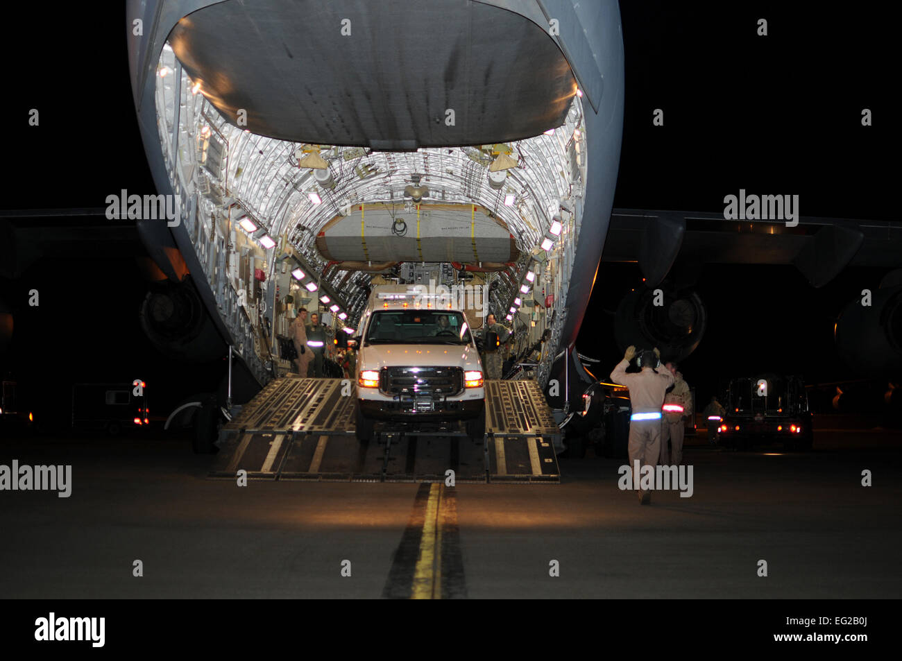 STEWART AIR NATIONAL GUARD BASE, N.Y. --An SUV belonging to New York Task Force 1, New York City's FEMA-sponsored Stock Photo