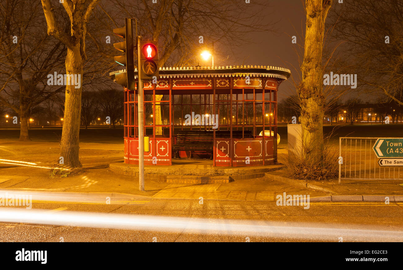 Old Tram shelter which was built in 1924 on the Kettering rd at The White Elephant junction. Northampton. Stock Photo